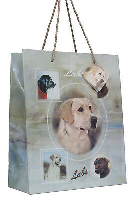 £5.99 • Buy Labrador Breed Of Dog Quality Large Gift Bag & Gift Tag Present Occasion