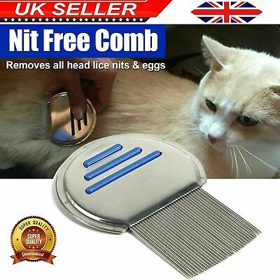Lice Nit Comb Get Down To Nitty Gritty Stainless Steel Metal Head And Teeth New • 3.49£