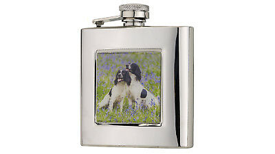 £29.25 • Buy 6oz Stainless Hip Flask Spaniels Hunting Shooting