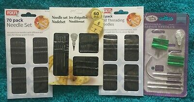 Assorted Sizes Set SELF THREADING Hand Sewing NEEDLES • 1.90£