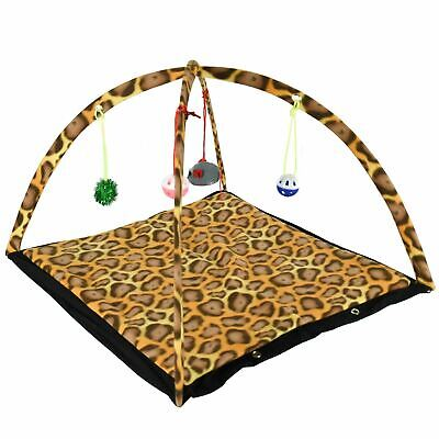 £8.95 • Buy Cat Activity Play Tent Toy Kitten Mat Foldable Pet Bed Hanging Mouse Ball Bells
