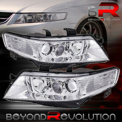 $159.99 • Buy For 2004-2008 Acura TSX CL7 CL9 Chrome Clear Factory Style Projector Headlights