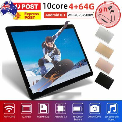 AU127.99 • Buy Bluetooth 10.1 Inch Android 9.0 Tablet 8+512GB Phablet PC Dual Camera WiFi 1080P