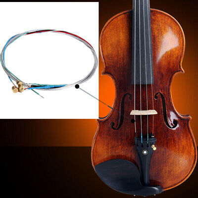 Violin Strings (x4) Solid Steel Core Replacement Wire Size 3/4 & 4/4 A/E/D/G  • 3.79£