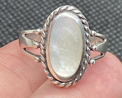 $35 • Buy Charles Winston CW Sterling Silver 925 & Mother Of Pearl Ornate Ring Size 9