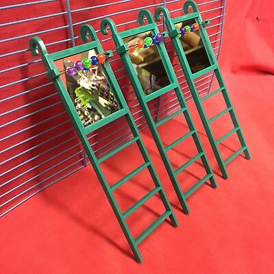 3 X Hamster Plastic Ladder Mirror Beads Interactive Cage Boredom Exerciser Mice  • 9.99£