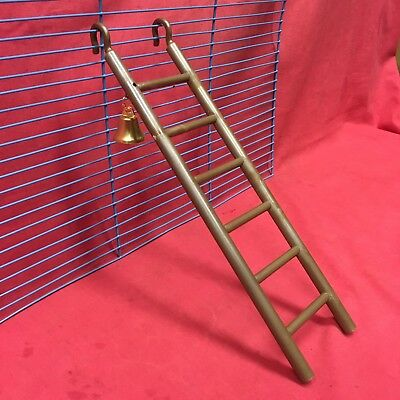 Plastic Toy Ladder & Bell 11  Brown Hamsters Mice Rats Gerbil Dwarf Hamsters  • 4.99£