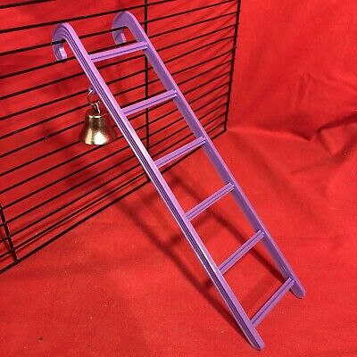 Hamster Ladder Bell Plastic 9  Purple Interactive Cage Boredom Exerciser Mouse • 3.99£