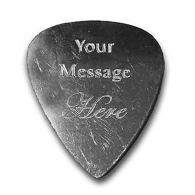 $ CDN12.59 • Buy Personalized Custom Guitar And Bass Pick Custom Aluminum SILVER Customization