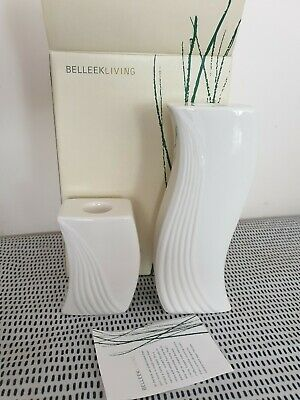 Belleek Living  Candle Stick Holders • 20£