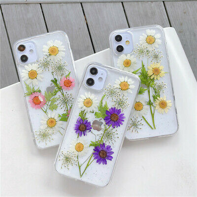 AU9.05 • Buy Real Dried Floral Glitter Shockproof Phone Case Cover For IPhone 11 7 8 XR SE20