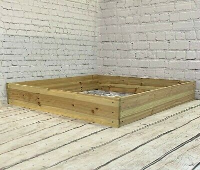 Wooden Raised Bed Vegetable Flower Garden Planter (122 X 122 X 18cm) • 39.99£