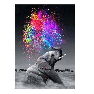 £6.98 • Buy 5D Diamond Painting Elephant Embroidery Cross Craft Colorful Gems Arts Kit Mural