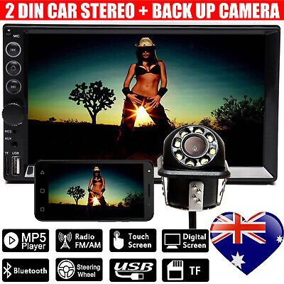 AU96.24 • Buy 7  2 Din Car Stereo Radio Touch Screen MP5 Player Bluetooth Head Unit + Camera