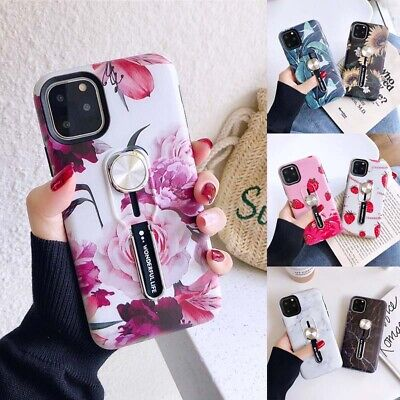 AU8.47 • Buy Marble Kickstand Case For IPhone 11 Pro SE 2020 XS Ring Loop Finger Strap Cover