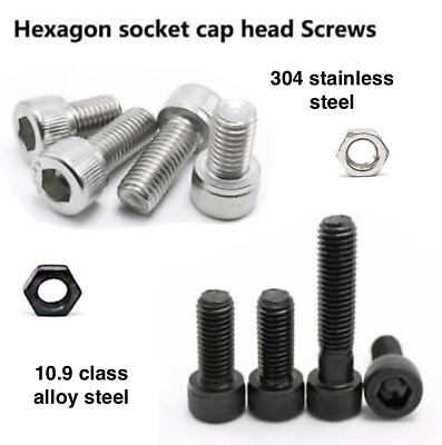 M2.5 2.5mm STAINLESS STEEL A2 HEXAGON FULL NUTS HEX NUT DIN 934 FOR SCREWS BW