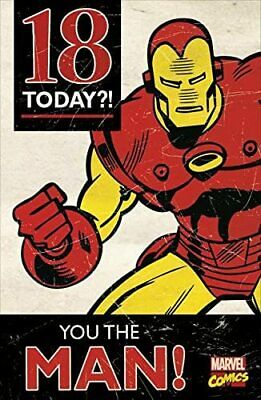 Avengers Birthday Card - Iron Man 18 Today - 18th Birthday Card • 8.99£