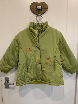Marese Girls Green Padded Long Sleeve Zip Up Winter Jacket Age 5 Years • 13.99£
