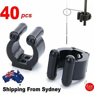 AU15.99 • Buy 40 Pack Plastic Club Clip Fishing Rod Pole Storage Tip Clips Clamps Holder AUS