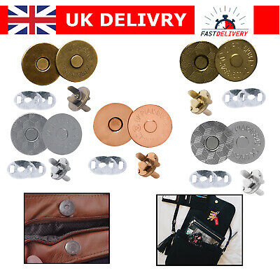 Magnetic Clasps Snaps Fasteners Closure 14mm/18mm For Purses Handbags DIY Crafts • 1.89£