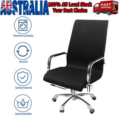 AU20.99 • Buy New Chair Cover Simple Office Armchair Protector Swivel Chair Elastic Slipcover