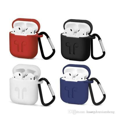 AU4.90 • Buy AUS SELLER Apple Airpods 1 & 2 Silicone Case Cover Skin Accessories With Clip