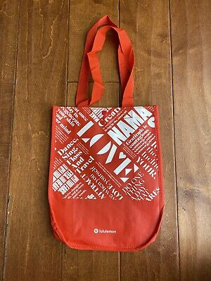 $ CDN7.89 • Buy Lululemon 20y Manifesto Reusable Gym Shopping Eco Snap Tote Bag Size Small