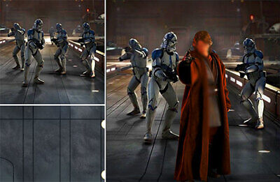 $ CDN87.05 • Buy Poster Backdrop Ships Rolled~star Wars~501 For Hot Toys 1/6 Figure Anakin Mms437