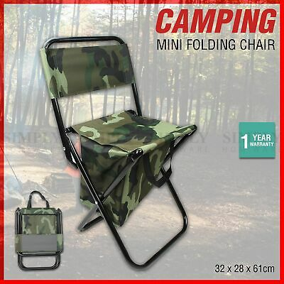 AU22.90 • Buy Folding Camping Chairs Portable Hiking Travel Fishing Outdoor Beach Picnic Stool