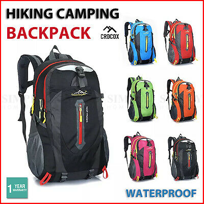 AU23.89 • Buy Hiking Backpack Bag Camping Water Resistant Outdoor Travel Luggage Rucksack Spor