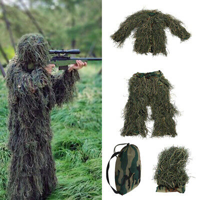 AU40.11 • Buy Children Kid Leaf Ghillie Suit Woodland Camo Camouflage Clothing For Jungle Game