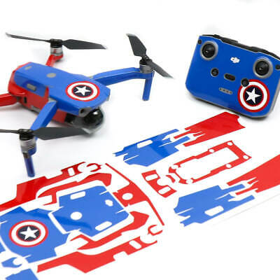 AU42.50 • Buy Captain America Drone Skin Wrap Stickers Decal For DJI Mavic Air 2