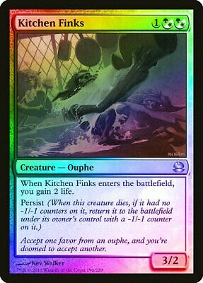 $3.65 • Buy Kitchen Finks FOIL Modern Masters NM White Green Uncommon MAGIC CARD ABUGames