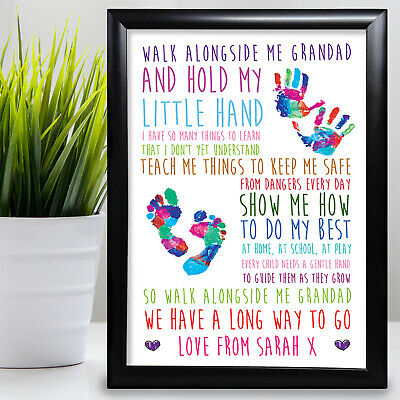 £11.99 • Buy Gift For Grandad Birthday Card Walk With Me Gift From Grandaughter Fathers Day