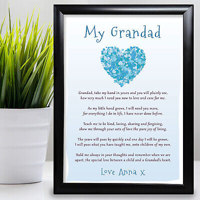 £11.99 • Buy Gift For Grandad Birthday Card Poem Gift From Grandaughter Fathers Day