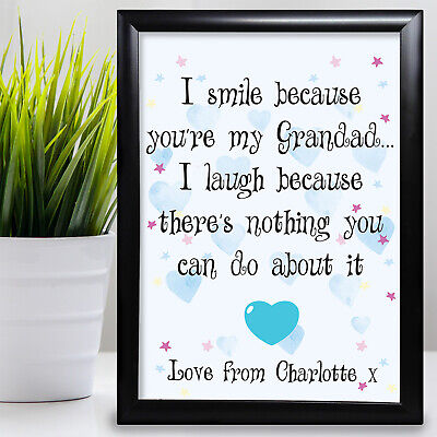 £6.29 • Buy Gift For Grandad Birthday Card Gift From Grandaughter Fathers Day Cheeky