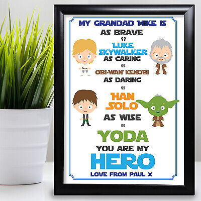 £11.99 • Buy Gift For Grandad Star Wars Birthday Card Gift From Grandaughter Fathers Day