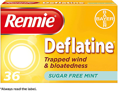 Rennie Deflatine Trapped Wind Tablets | Bloating Relief | Heartburn Relief | | & • 6.77£