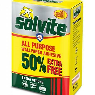 Solvite Wallpaper Paste - Adhesive Can Hang Up To 30 Rolls • 7.99£