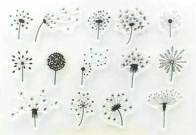 14 Dandelion Head Clear Rubber Stamps-transparent Silicone Flowers-dandelions • 5.50£