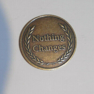 $4 • Buy Aa Alcoholics Anonymous Bronze IF NOTHING CHANGES Recovery Sobriety Coin Token