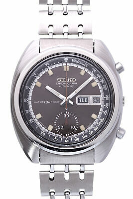 $ CDN2279.36 • Buy SEIKO Chronograph 6139-6010 Matt Brown Dial Automatic Vintage Watch 1979's OH