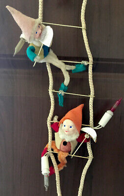 $ CDN136.20 • Buy Vintage Christmas Ladder Climbing Lights Snow White Seven Dwarves Jeelco 1950's