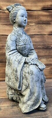 Stone Garden Large Oriental Chinese Japanese Lady Woman Statue Ornament • 89.95£