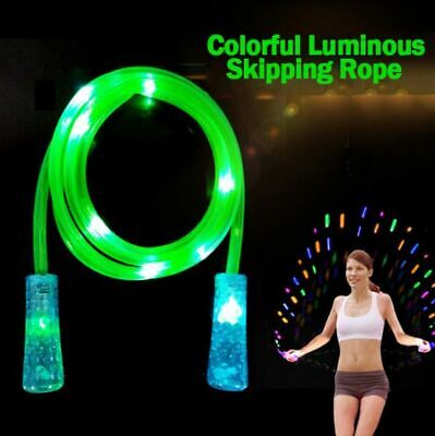 £6.79 • Buy Light Up LED Skipping Rope Adults Children Jump Rope Cardio Gym Exercise Active