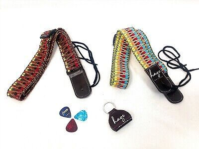 AU13 • Buy Haze Ukulele Strap Weaving Style Cotton Ukulele Adjustable W Pick Holder,Picks