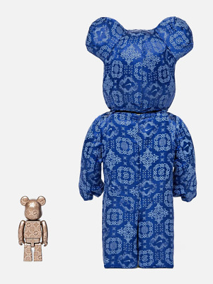 $699.99 • Buy Bearbrick X Clot X Nike 100% & 400% Set Royale University Blue Silk CONFIRMED!!!