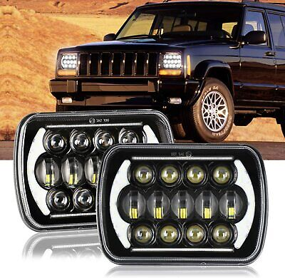 AU103.99 • Buy Pair 5x7  7x6  Inch LED Headlight Signal For Toyota Hilux Ford Jeep Truck Pickup