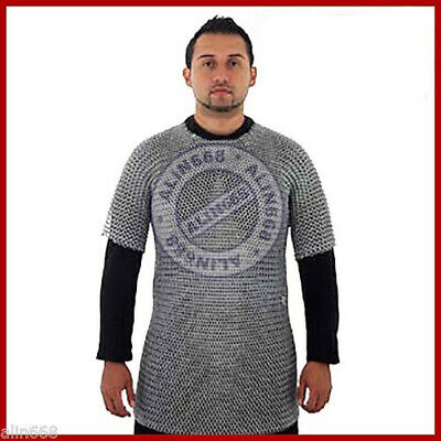 £25 • Buy Medieval Aluminium Chainmail Shirt Butted Chain Mail Armor For Role Play Theatre