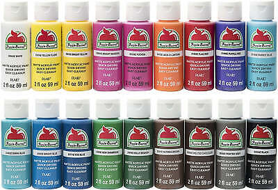 Apple Barrel Acrylic Paints (Matte) 59ml - Various Colours - BUY 5, GET 5 FREE! • 5.49£
